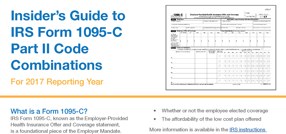 Irs Form 1095 C Code Combinations Your Guide To Part Ii Codes